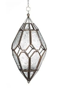 Lantern~Moroccan Style Tonal Glass Hanging Lantern Tealight Holder~Fair trade Gift by Folio Gothic Hippy LT67